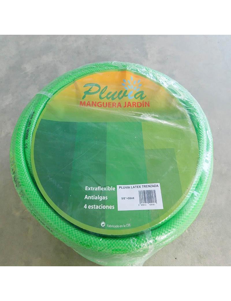 MANGUERA LATEX VERDE TRENZADO 14MM-5/8 (14X20) ROLLO 50 METROS