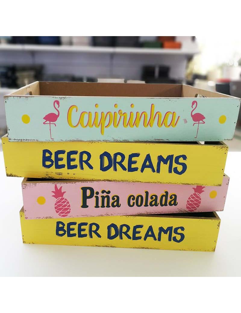 CAJA MADERA BEER / CAIPIRIÑA / PIÑA COLADA